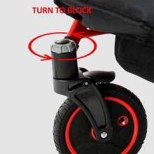 Передние поворотные колеса с фиксацией