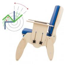 Dzięki odpowiedniej regulacji wysokości nóżek złatwością możemy uzyskać funkcję kubełkową fotelika.