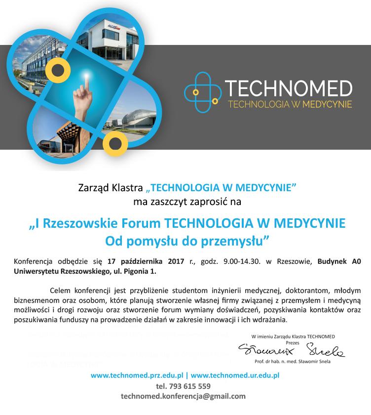 I Rzeszowskie Forum Technologia wMedycynie-1