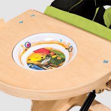 Stolik zwyjmowanym talerzykiem